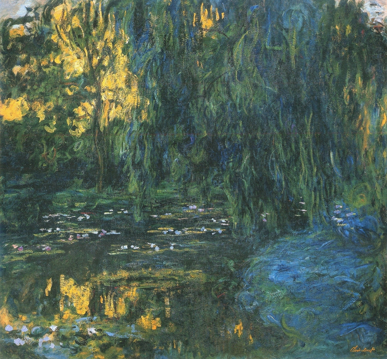 Claude Monet, Water Lily Pond and Weeping Willow