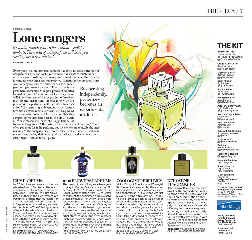 Toronto Star The Kit 2016 10 Lone Rangers Perfumes