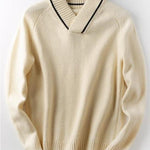Men's lapel collar warm casual sweater sweater