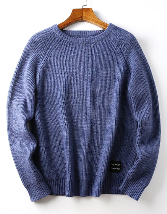Men's vertical design classic solid color Pullover