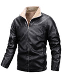 Men's Motorcycle Jacket thermal leather coat
