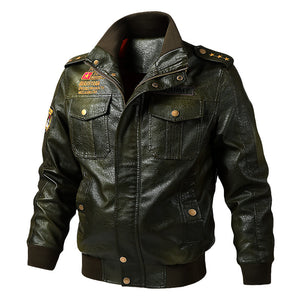 European and American leisure plus size motorcycle PU leather jacket men's jacket