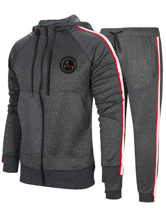 Men's casual suit new trend hooded sweater suit