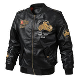 European and American men's leather military uniform leather jacket