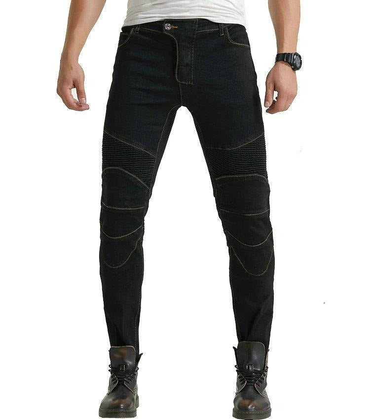 Motorcycle Racing Rider Straight Jeans Hockey Pants Motorcycle Racing Riding Pants