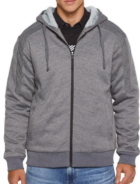 Men's solid color sweater with thick zipper