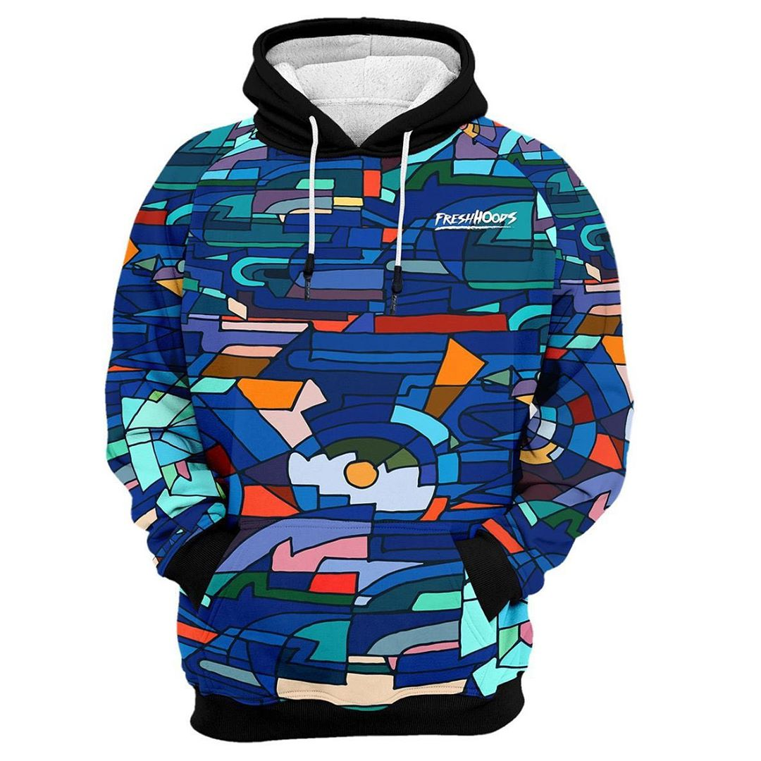 Men's element animated 3D loose pullover