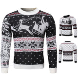 Men's sweater Santa caribou print knitted bottoming shirt