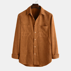 New men's long-sleeved shirt corduroy long-sleeved shirt for men