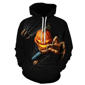 3D horror ghost doll series men's hooded sweater fashion brand couple
