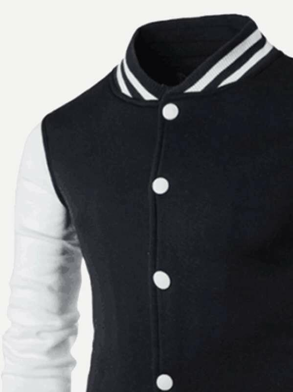 Men Cut And Sew Panel Jacket