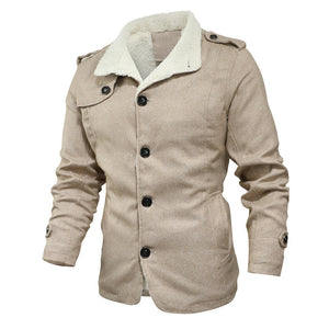 Fashion men's jacket wool coat