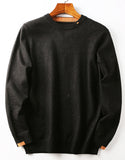 Men's small contrast round neck casual T-shirt sweater