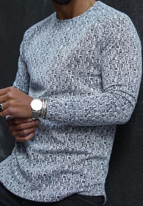 Men's pullover T-neck casual slim knit