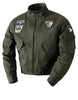 Men's plush fleece casual military jacket