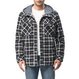 Large Size Plus Size Plaid Shirt Men's Jacket Plus Velvet Plus Size Winter Windproof Warm Jacket Men's Jacket
