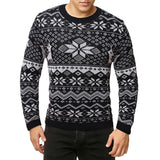 Men's snowflake christmas sweater large pullover sweater