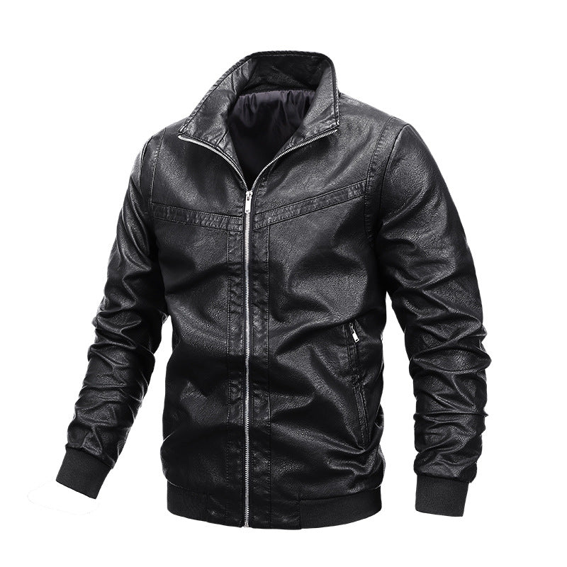 Men's motorcycle leather jacket