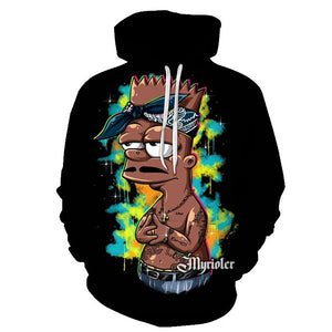 Men's Hoodie 3D cartoon loose