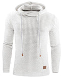 Hot sale hooded pullover men's sweater pure color casual sports top new