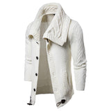 Men's Solid Color Knit Cardigan Sweater Coat