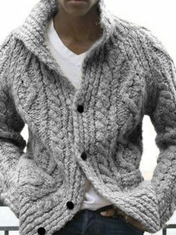 Plain Standard Stehkragen Slim European Sweater
