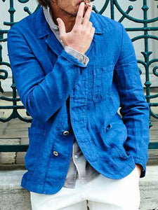 Plain Thin Lapel Fall Casual Jacket