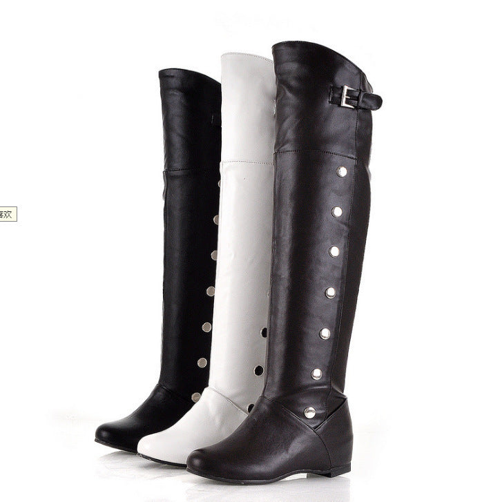 Women's PU Leather Knee High Boots