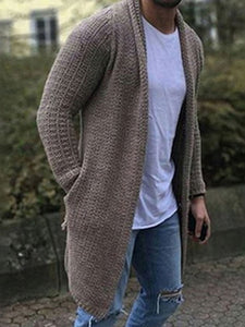 Plain Mid-Length Fall Casual Sweater
