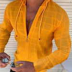 Cardigan Lace-Up Houndstooth Slim Zipper Hoodies
