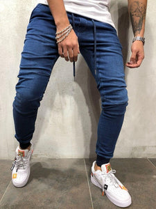 Pencil Pants Plain Casual Mid Waist Jeans