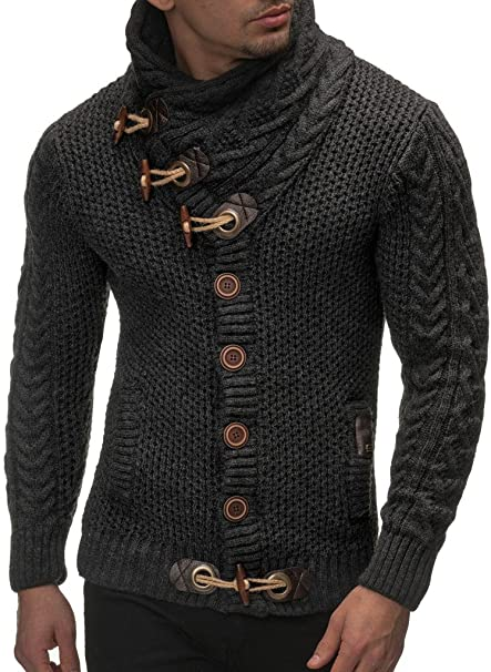 Men's Knitted Cotton Pullover Hoodie