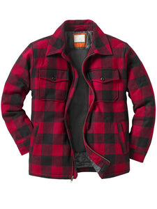 Men's outdoor flannel shirt jacket