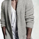 Solid color mid-length loose casual sweater