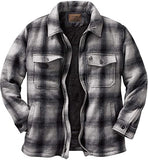 Men's casual long-sleeved plaid flannel lining button warm shirt jacket