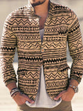 Color Block Cardigan Button Fashion Single-Breasted Hoodies