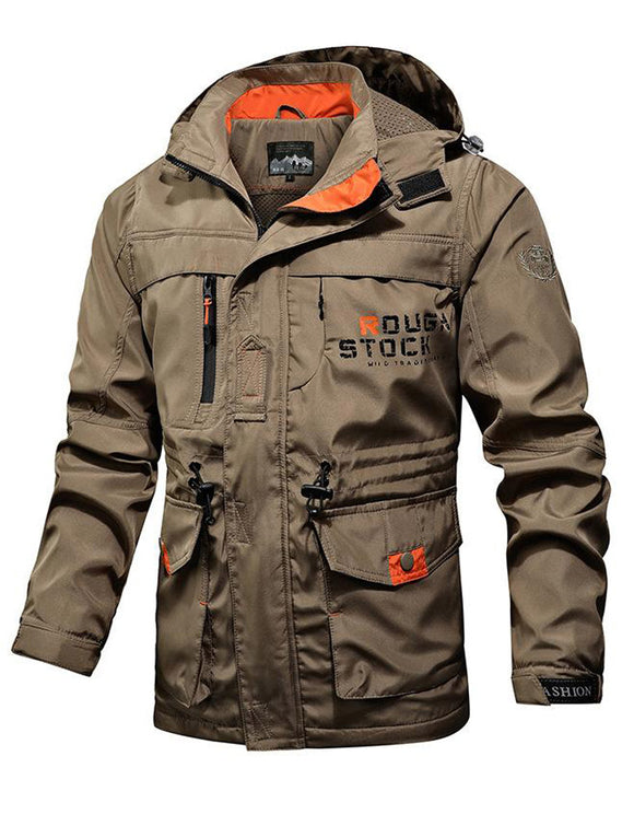 Men's Hooded Printed Military Jacket Fashion Outdoor Jacket