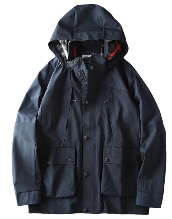Men's hooded waterproof jacket