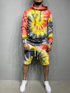 Casual Tie-Dye Pants Winter Outfit