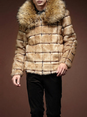 Plaid Standard Straight Korean Coat