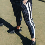 Lace-Up Pencil Pants Color Block Summer Lace-Up Casual Pants