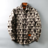 Men's long sleeve flannel shirt jacket