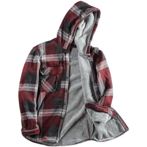 Men's Long Sleeve Hooded Shirt Jacket