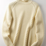 Men's warm high neck fashion solid color sweater