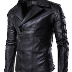 Men's motorcycle leather coat decadent leather jacket coat large leather coat