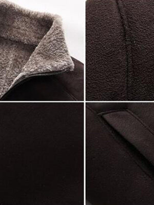 Fleece Zipper Stand Collar European Zipper Jacket