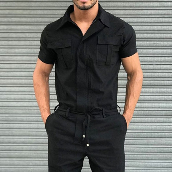 Plain Full Length Pocket Jumpsuits/Overalls