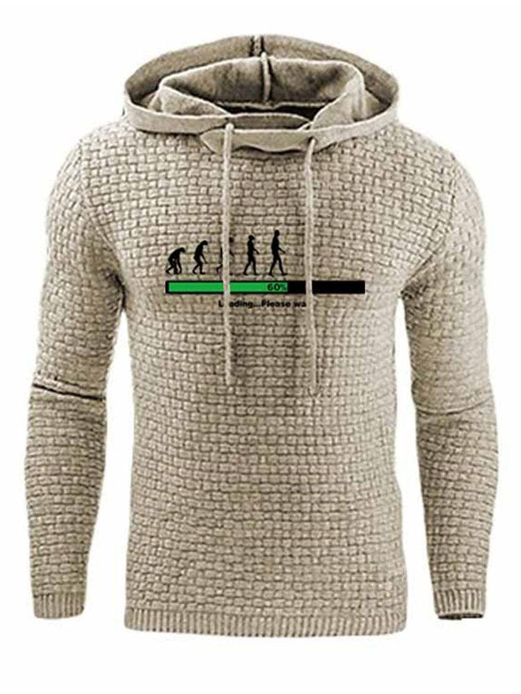 Plain Pullover Regular Hooded Casual Hoodies