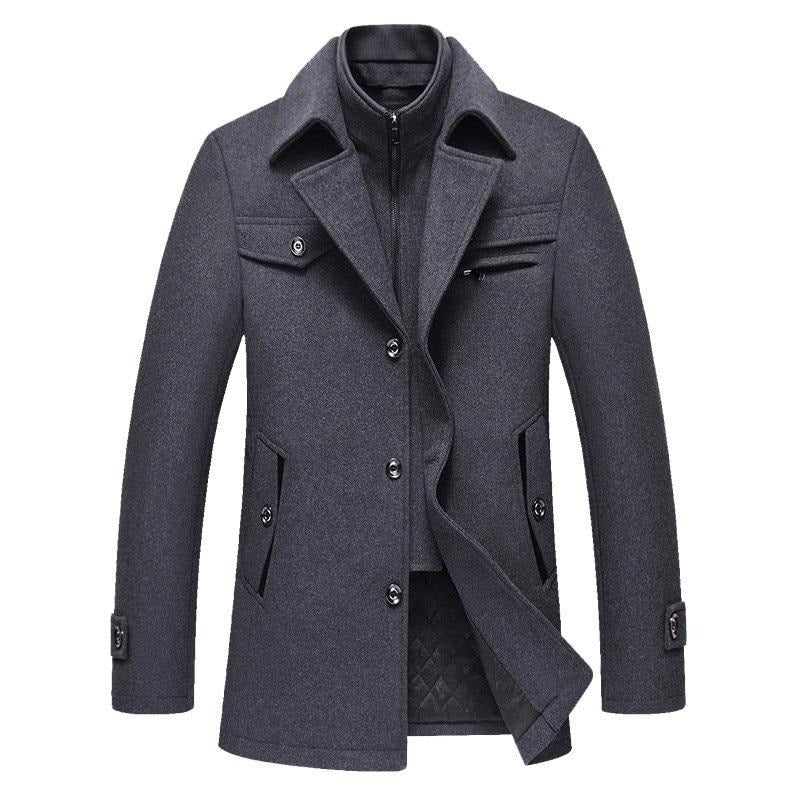 Men's wool blend coat