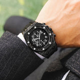 New AP Men's Sports Watches Chronograph Quartz  FF Iced Out Case Rubber Strap Male Army Military Quartz Watch 30m waterproof